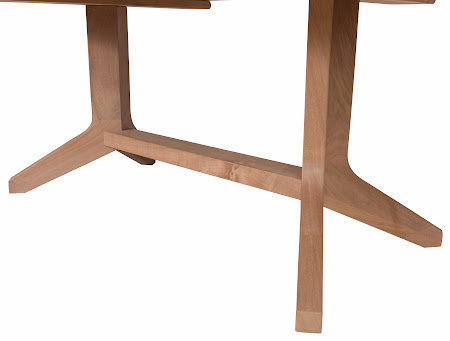 "90"" x 40"" Austin Dining Table in Unfinished Walnut, Base"