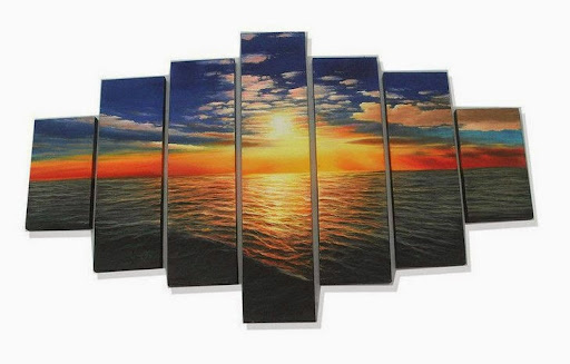 modern home decorative seascape oil painting on canvas