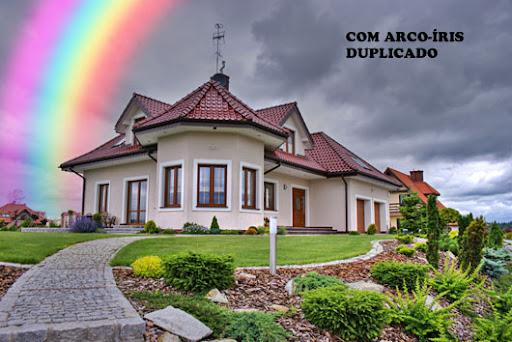 Imagem com a camada do arco-íris duplicada, mais forte