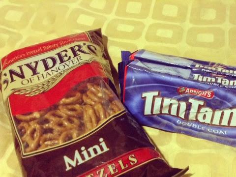 Snyder's of Hanover Mini Pretzel and Tim Tam Chocolate