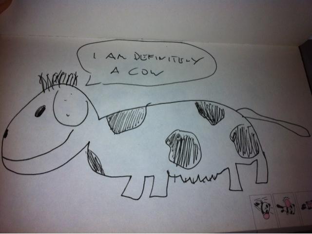 CALVIN HARRIS cow drawing | Krystle Tips
