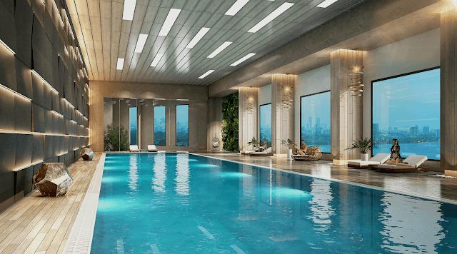 Bể bơi tại chung cư D'el Dorado Premium