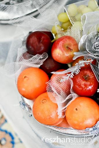 gubahan hantaran buah-buahan