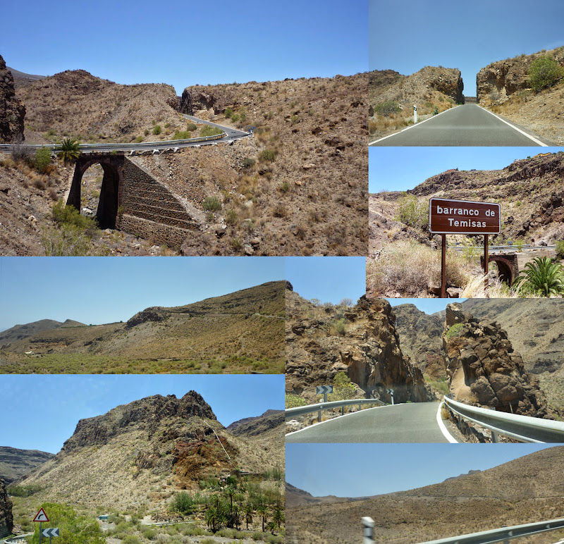 Fotocollage von Bildern aus Gran Canarias wüstenhaftem Südosten