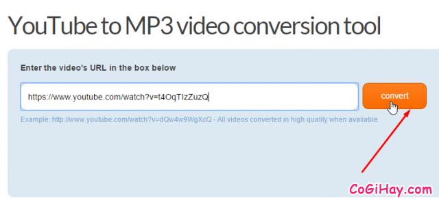 chuyển video sang mp3