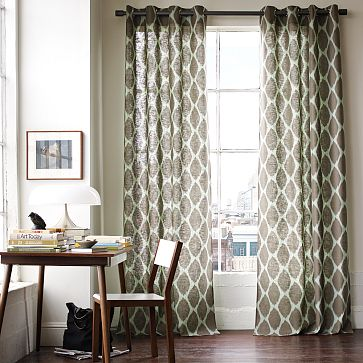 I Am Also Dying To Stencil Something, And Am Thinking That These West Elms  Curtains Could Be Easily Knocked Off: