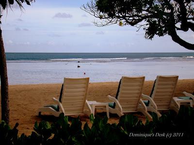 The lovely beach at Nusa Dua , Bali Indonesia