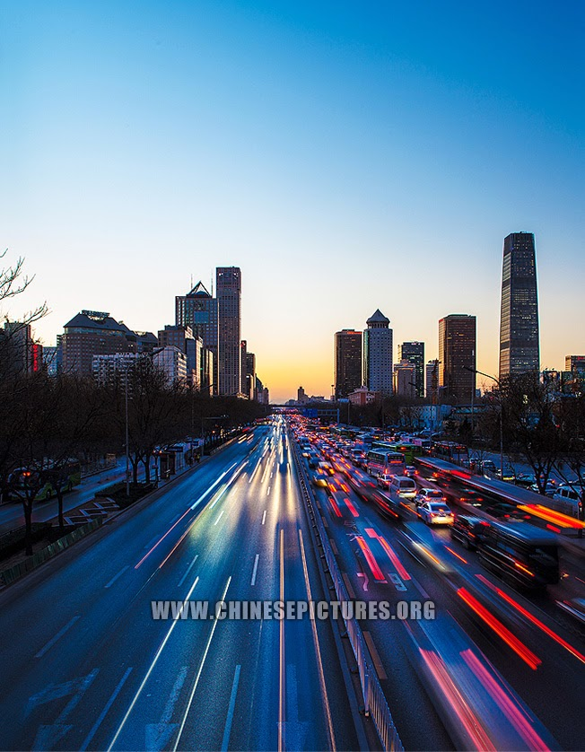 Changan Street Sunset Beijing Photo 2013