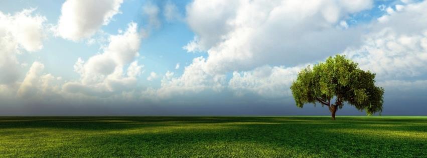 Gökyüzü yeşillik ve ufuk çizgisi facebook kapak fotoğrafı