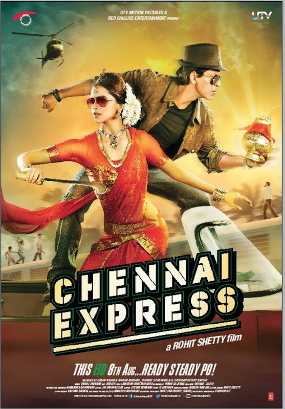 Poster Of Hindi Movie Chennai Express (2013) Free Download Full New Hindi Movie Watch Online At alldownloads4u.com