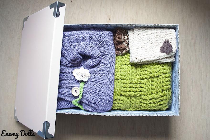 Prendas tejidas para regalo de bebé