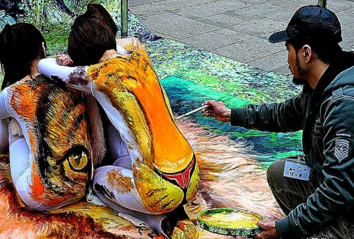 China Body Art a 3D body art piece