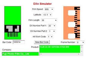 Fujicolor Press 800 a DXn Simulator oldalán