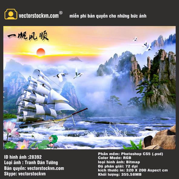 Tranh Thuận Buồm Xuôi gió.
