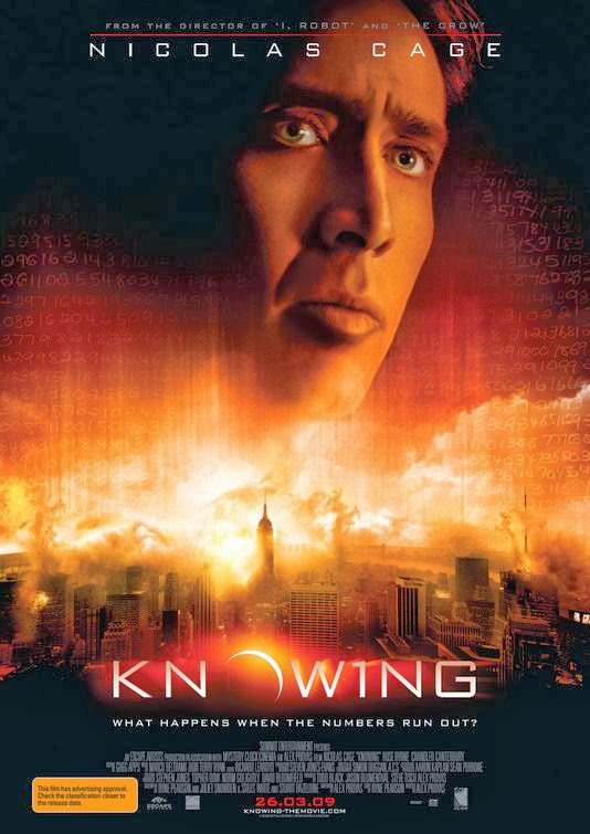 Poster Of Knowing (2009) Full Movie Hindi Dubbed Free Download Watch Online At Alldownloads4u.Com