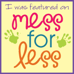 Mess For Less Featured Me