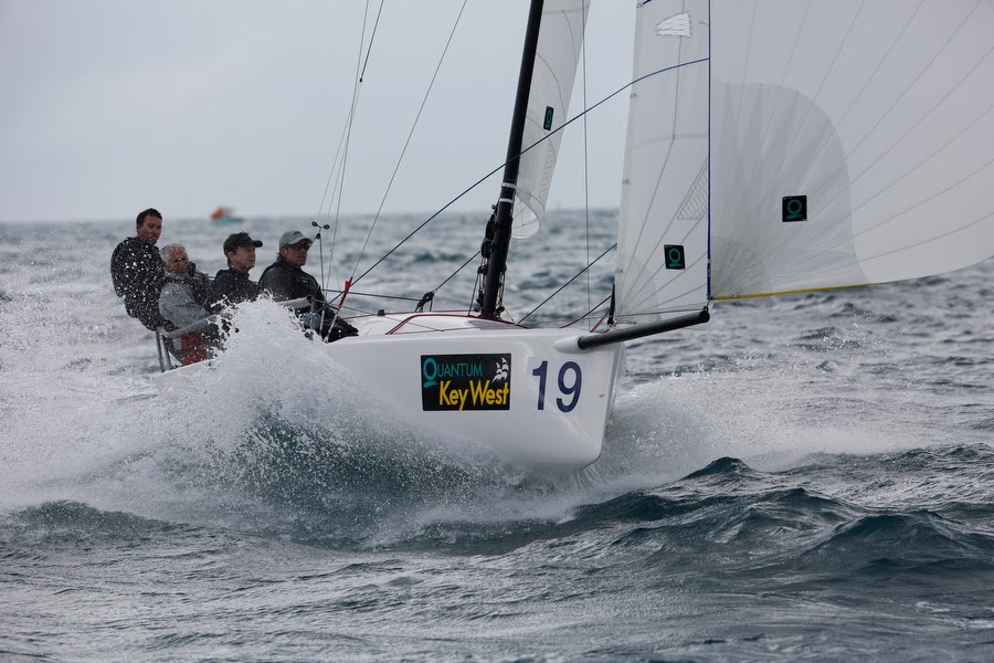 J/70 flying downwind in epic sailing conditions