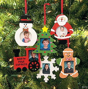 Wooden Photo Frame Christmas Ornaments