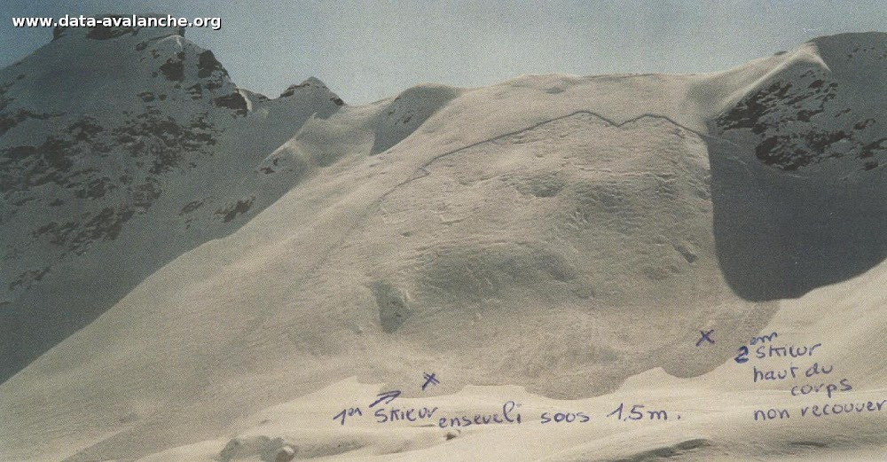 Avalanche Chablais, secteur Pointe d'Anterne, Pointe du Dérochoir - Photo 1 - © Périllat Raymond