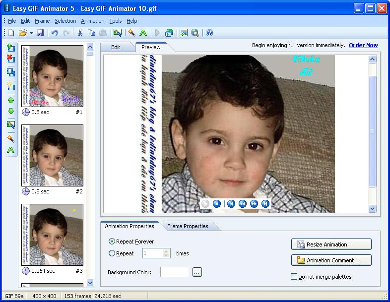 Easy GIF Animator 5.1 Pro Full - Phần mềm làm ảnh động - Image 11