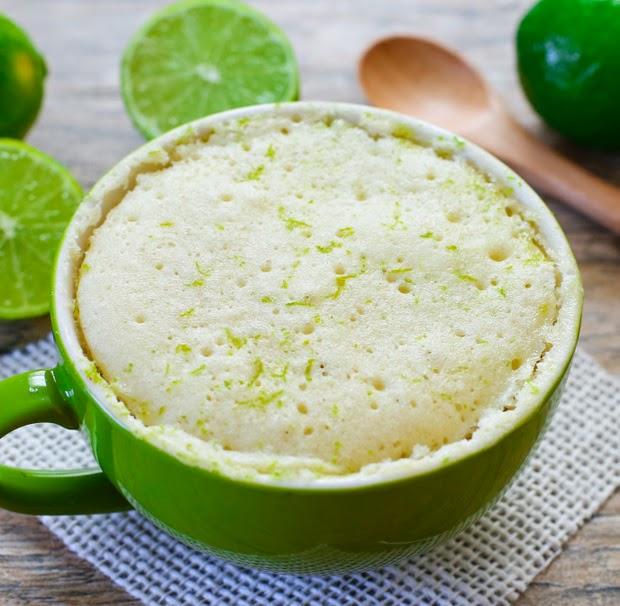 photo of a lime mug cake