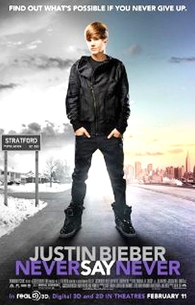 justin bieber never say never 3d poster. justin bieber never say never