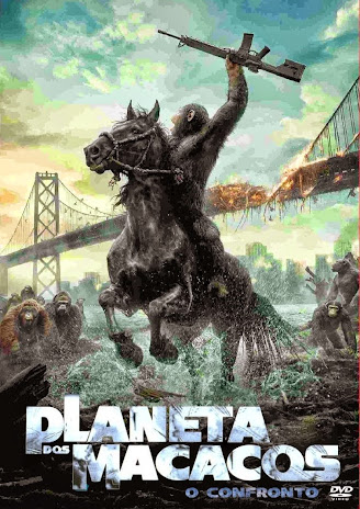 Planeta dos Macacos - O Confronto DVDRip Dublado – Torrent BDRip Dual Audio XviD (2014) + Legenda