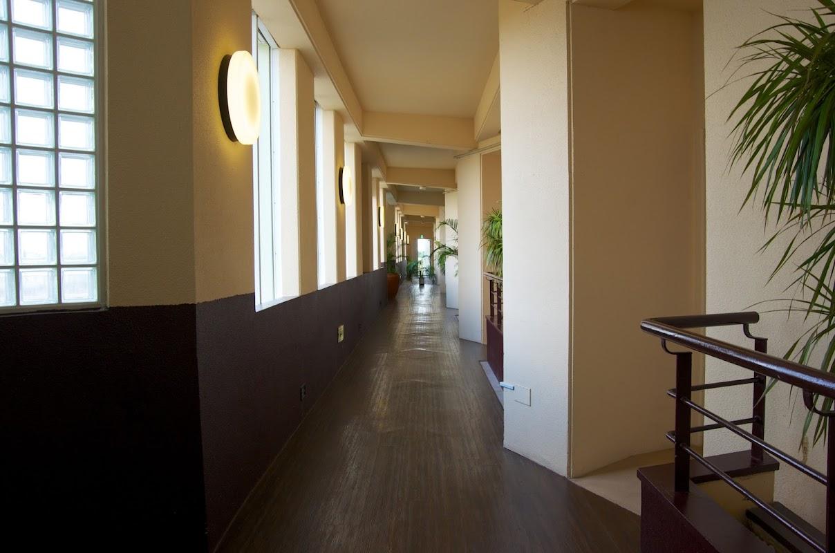 部屋へ続く廊下
