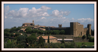 Montalcino fortress and cathedral