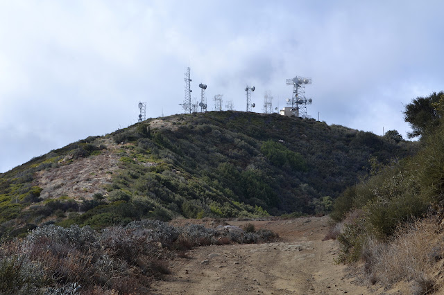 Santa Ynez Peak covered in transmitters
