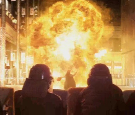 Christmas tree bomb explodes