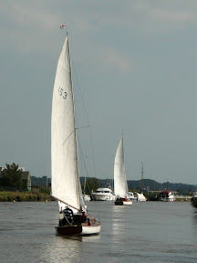 The race heads down to Breydon Water