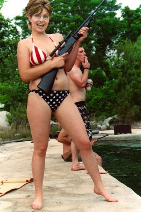 Sarah Palin en bikini patriotico