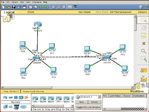 packet tracer how to get router to cloud