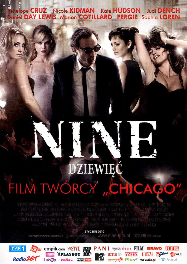 Ulotka filmu 'Nine - Dziewięć (przód)'