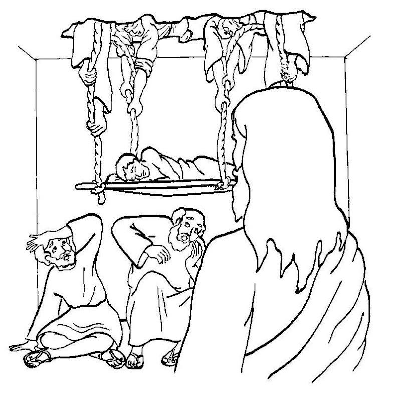 Atractivo Jesus Cura A Un Ciego Coloring Page Composición - Dibujos ...
