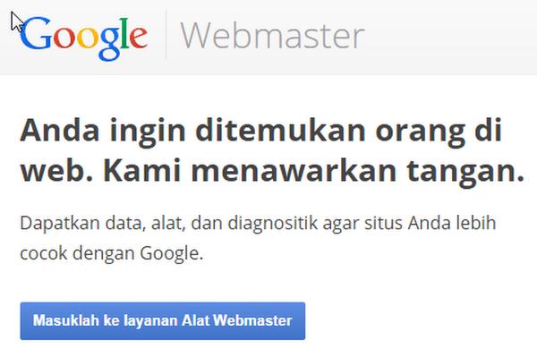 Indeks Artikel Cepat Menggunakan Google Webmaster Tools
