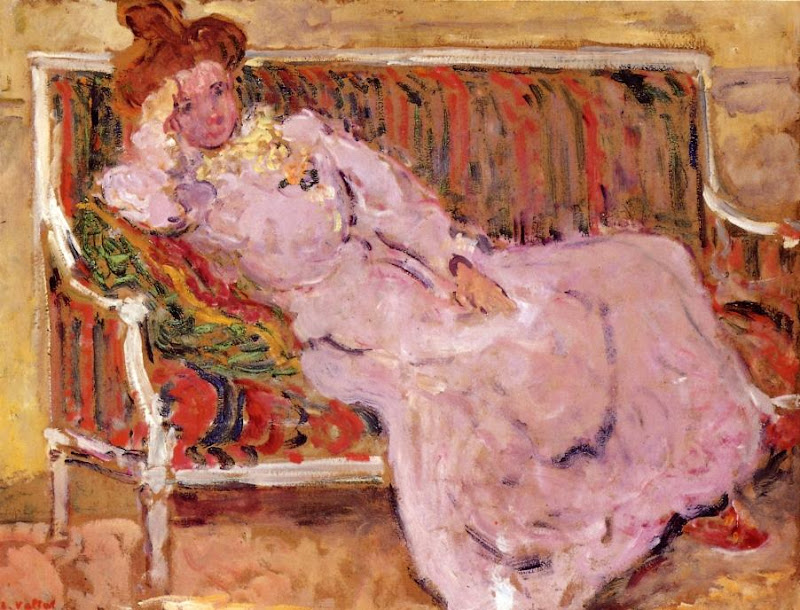 Louis Valtat - Woman on a Sofa