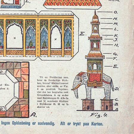 Elephant Pagoda Papercraft
