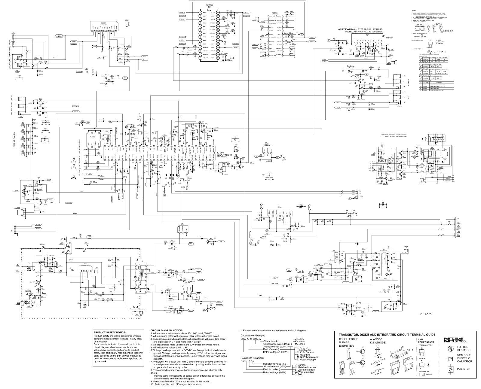 Philco Pf2118 Argentina Used Sanyo Tv Kit How To Enter Service Dj5 Wiring Diagram Circuit Schematic And Pwb