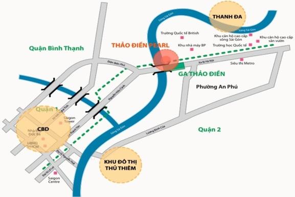 Căn hộ Thảo Điền Pearl vị trí đón đầu quận 2. LH 0902994689