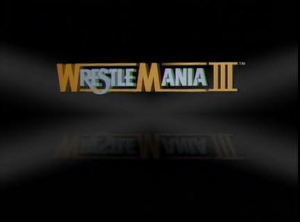 Wrestlemania Para Siempre Wrestlemania Iii