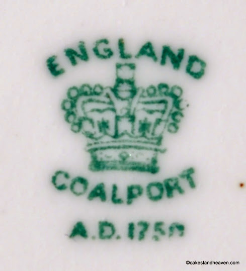 Coalport hand painted china plate back stamp