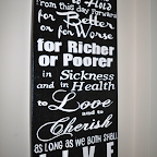 Canvas Wedding Vows