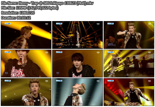[Perf] Henry   Trap (feat. Kyuhyun) @ SBS Inkigayo 130623