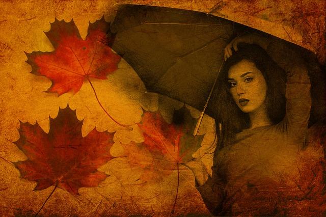 ảnh cô gái tháng 8 và mùa thu