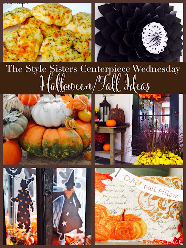 he Style Sisters Centerpiece Wednesday, Halloween ideas