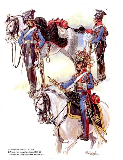 Trumpeter 1st Westphalian Cuirassiers Regiment 1813 MiniArt 1/16 Trompette+Lancier