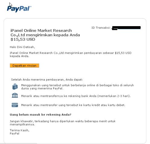 Bukti Pembayaran dari Ipanel
