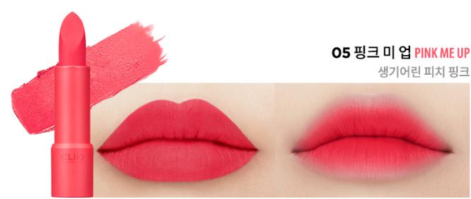 Clio Rouge Heel Velvet Màu 05 Pink Me Up